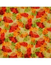 Otoño hojas colores llamativos