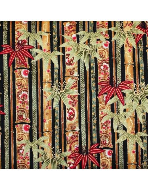 Navideñas bambú y hojas