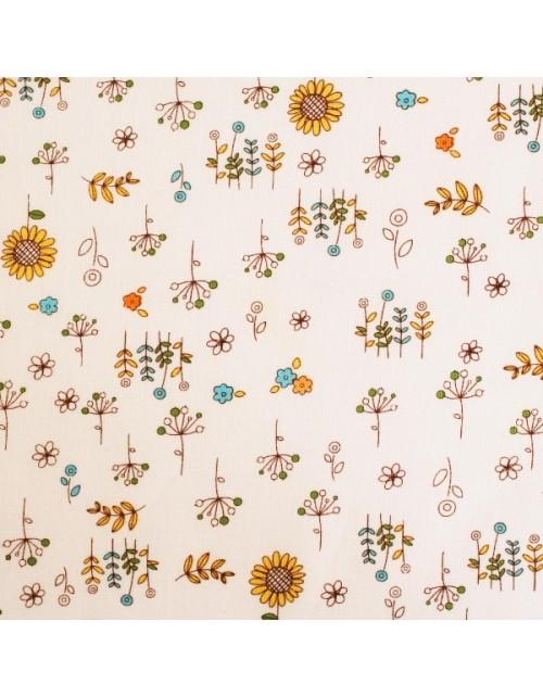 Infantil fondo blanco con flores diversas