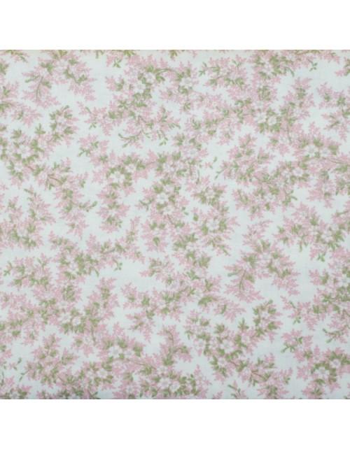 Flores rosa claro y hojitas verdes