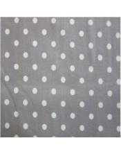 Topos blancos fondo gris oscuro