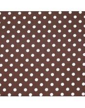 Topos blancos fondo marrón