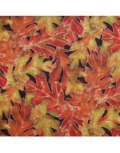 Otoño hojas grandes
