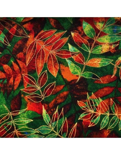 Otoño verde y rojo