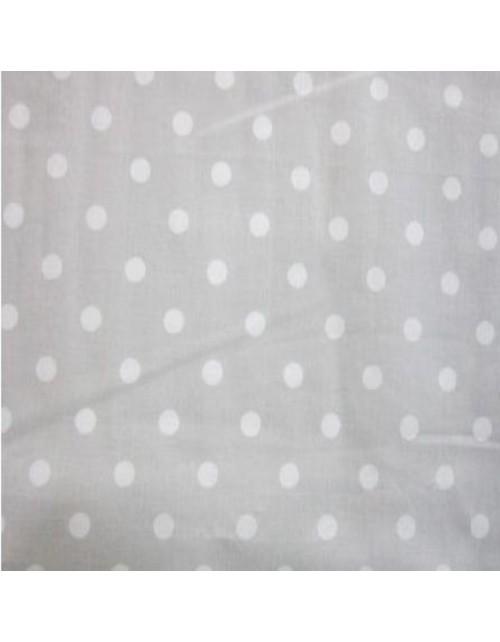 Topos blancos fondo gris claro