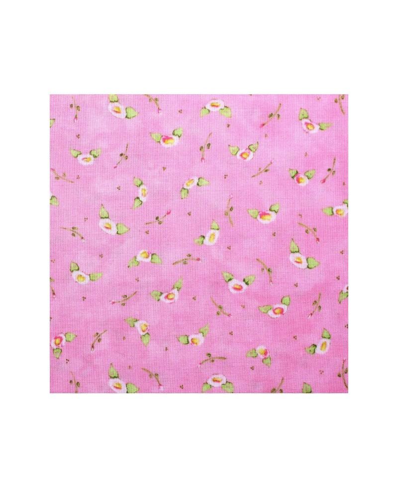 Flores fondo rosa