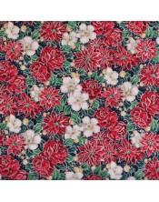 Navideñas flores medianas blancas y rojas