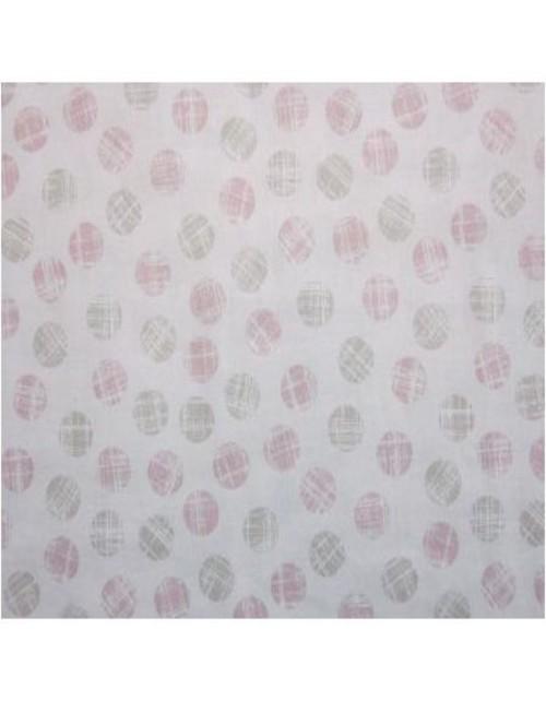 Topos rayados fondo rosa