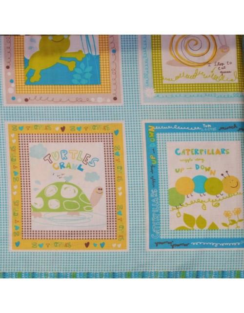 Infantil mural de tortugas y ranas