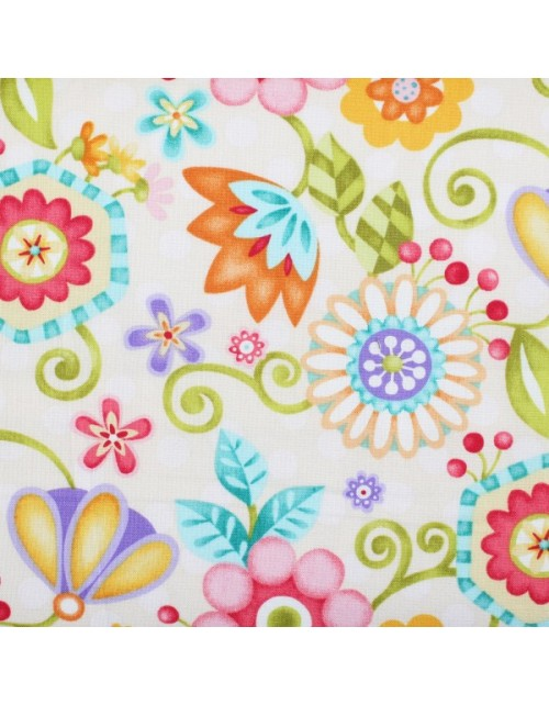 Flores grandes multicolor