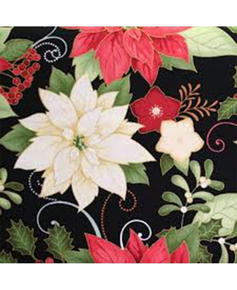Navideñas flores rojas blancas grandes